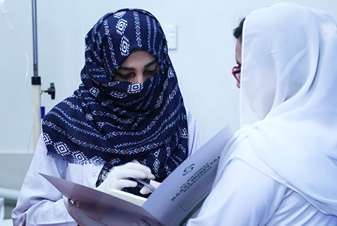 Female Staff, Reporting, Al-Khidmat Raazi