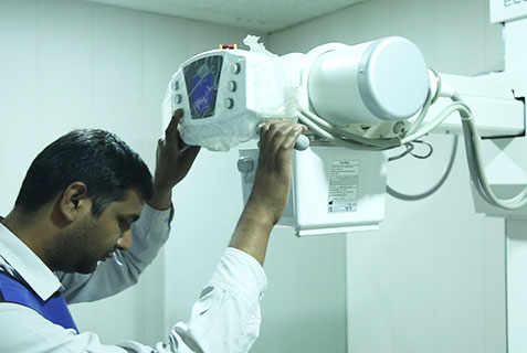 X-Ray MAchine, Efficient Staff, Al-Khidmat Raazi