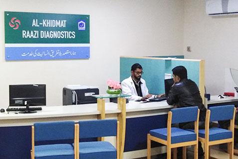 Diagnostic Labs, X-ray Labs, Al-Khidmat Raazi